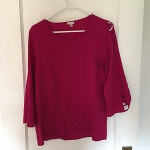 Beautiful Fuchsia Top with arm accents